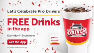 FREE Drink Every Day in September at Pilot Flying J Travel Centers