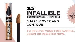FREE LOreal Infallible Full Wear Concealer Sample
