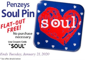FREE Penzeys Soul Pin at Penzeys Spices.