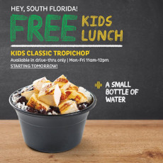 FREE Kids Lunch