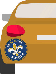 FREE Louisiana Oil & Natural Gas We Fuel The Future Sticker