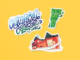 FREE Champlain College Stickers