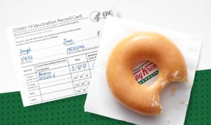 FREE Doughnut at Krispy Kreme for those who are Vaccinated