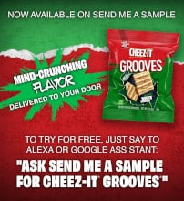 FREE Cheez-It Grooves Sample