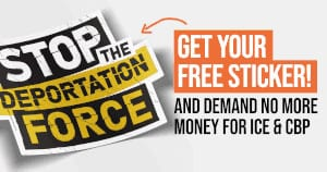FREE Stop the Deportation Force Sticker