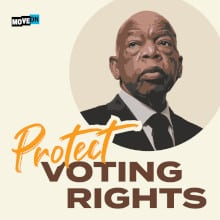 John Lewis Protect Voting Rights Sticker