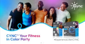 FREE GE Lighting CYNC Your Fitness in Color Party Pack
