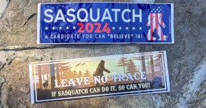 Sasquatch 2024 and Leave No Trace Stickers