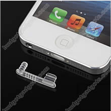 Anti-Dust Earphone Jack Charger Dock Cap Cover for iPhone 5 & iPad Mini